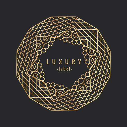 ornement vintage de luxe golgen