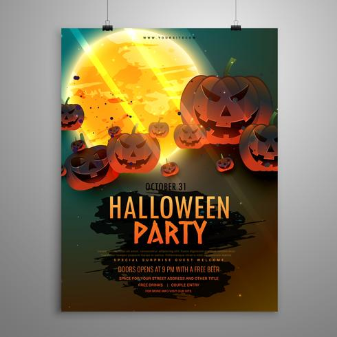halloween party flyer template download free vector art stock