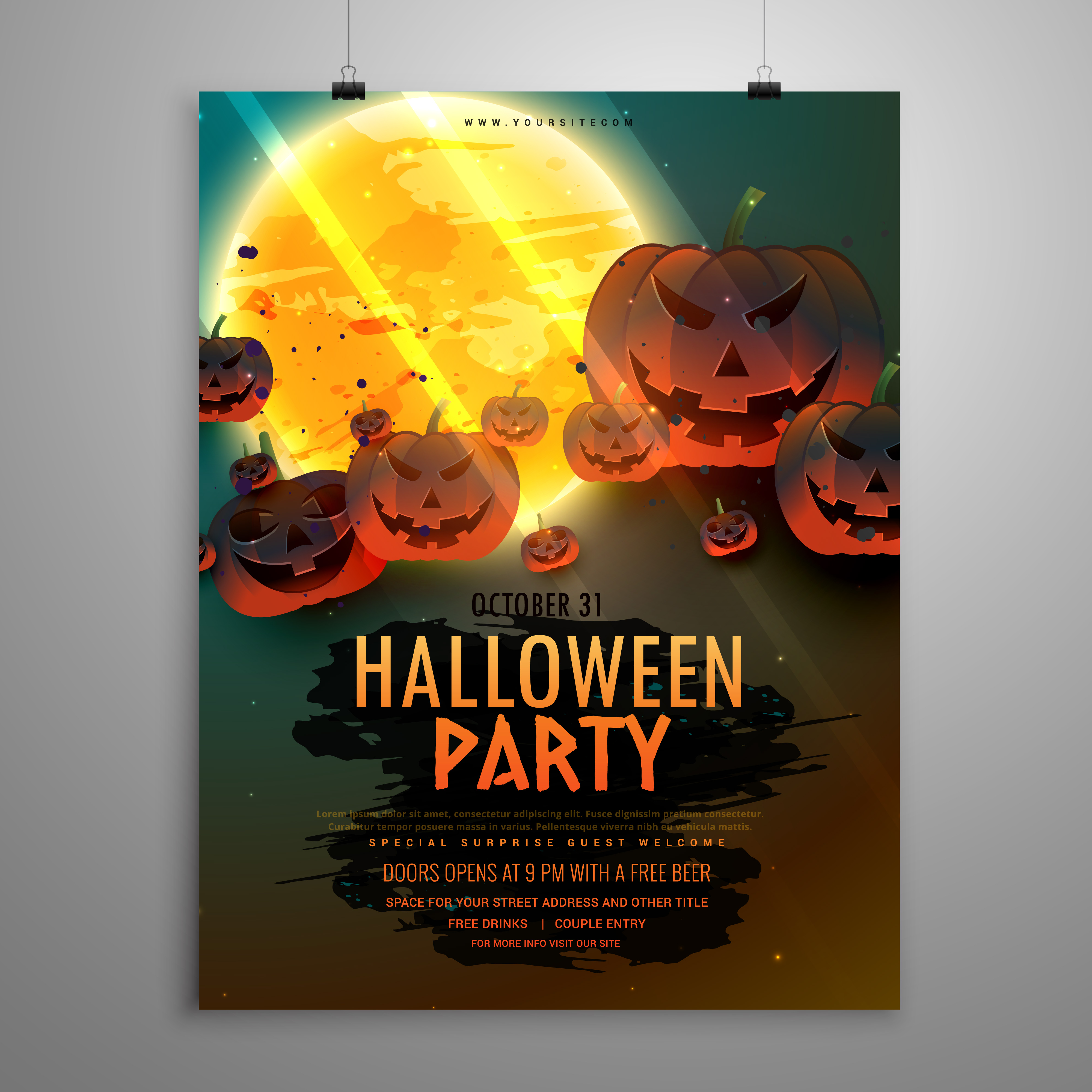 Halloween Flyer Free Vector Art
