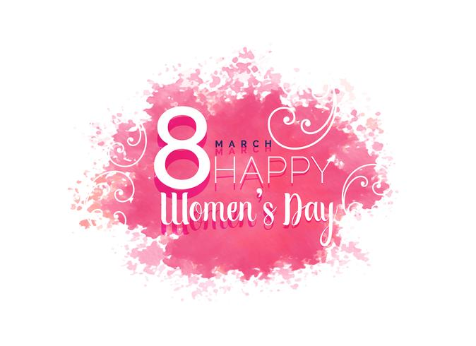 women's day water color background with floral