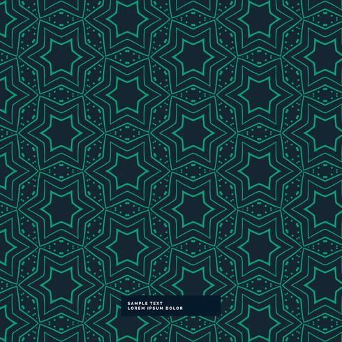 abstract green star shape pattern on blue background