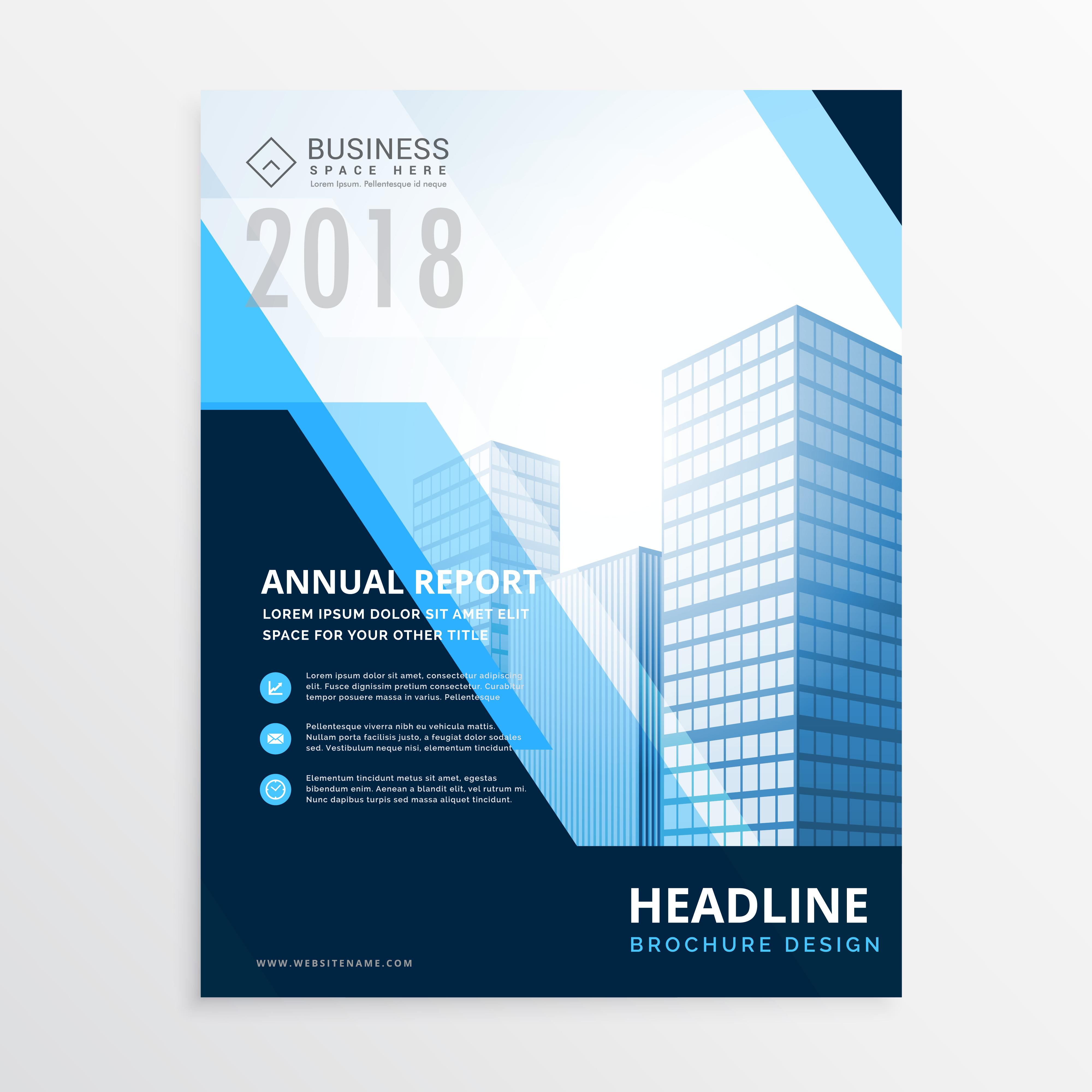 creative blue business brochure design template in size a4