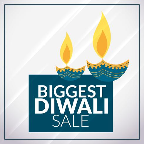 biggest diwali sale promotional banner template with diya