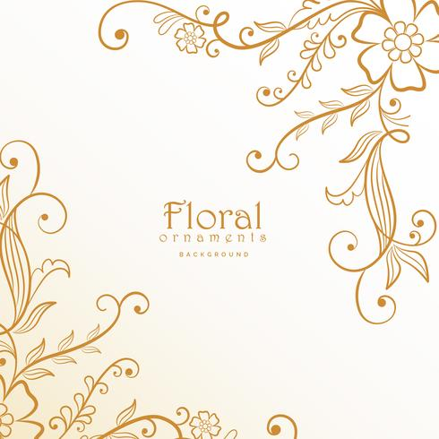 stylish lovely floral decoration background