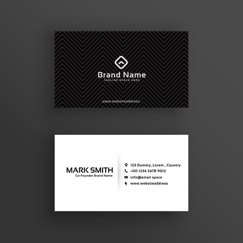 minimal dark business card design template