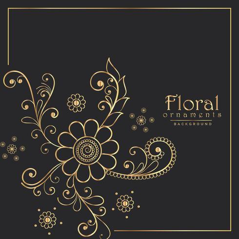 stijlvolle bloemmotief ontwerp achtergrond