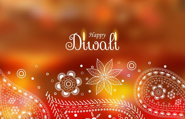 diwali greeting wallpaper with paisley decoration