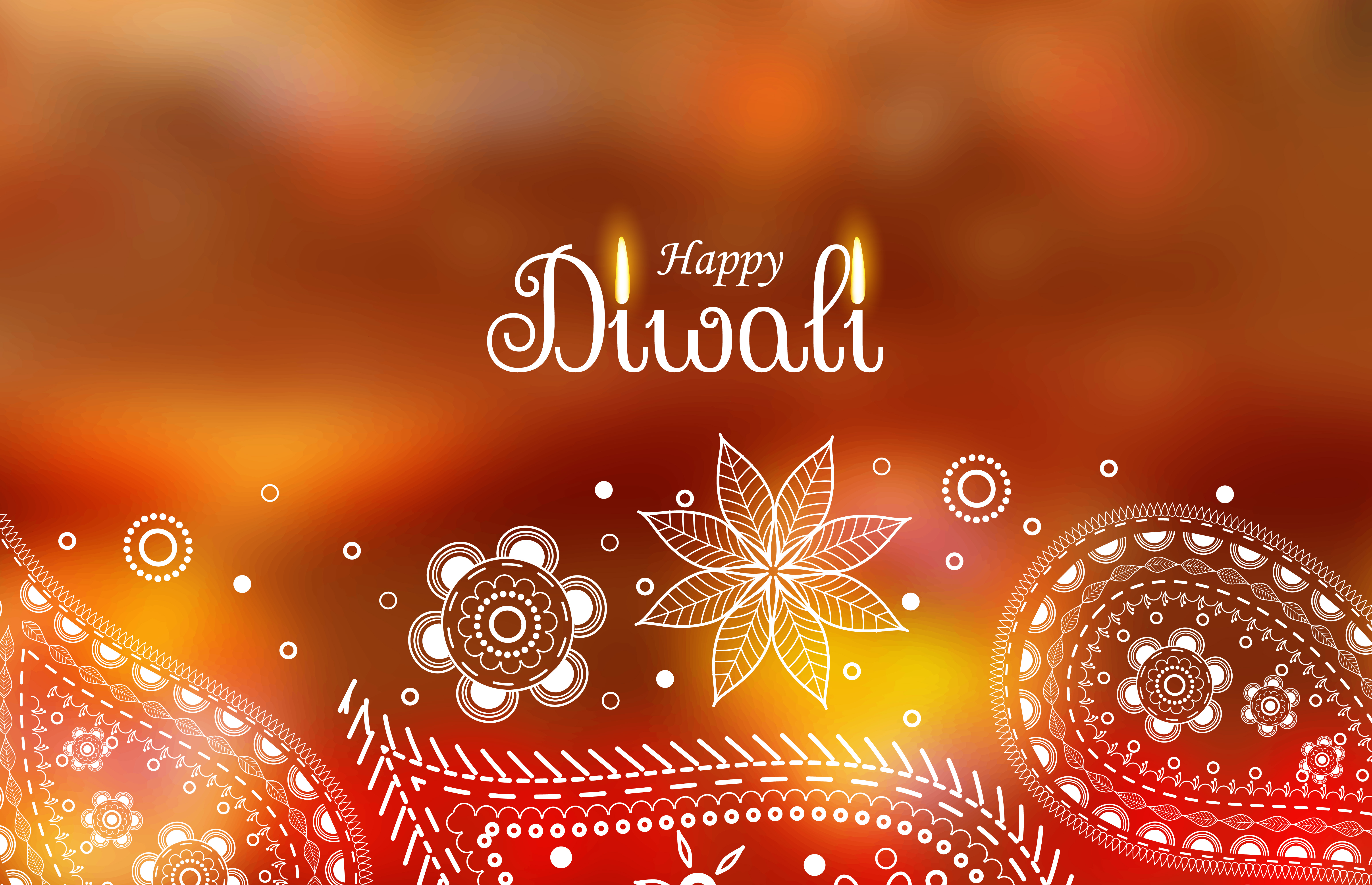 Diwali Greeting Wallpaper With Paisley Decoration Download Free
