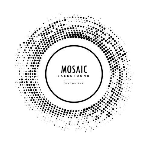 cornice a mosaico mezzotono in nero