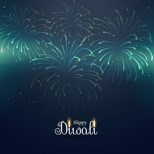 diwali greeting background with fireworks