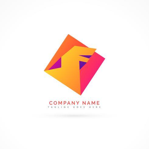 abstract colorful dragon logo concept
