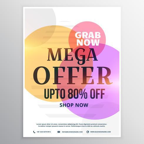 méga modèle de conception de bon de réduction de vente