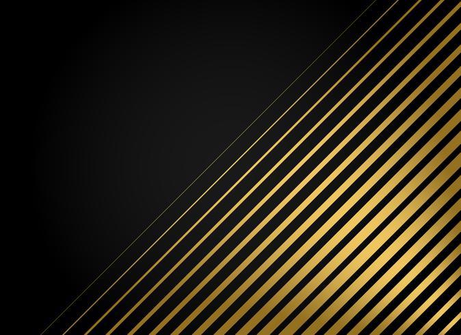 Fondo de vector de rayas doradas premium