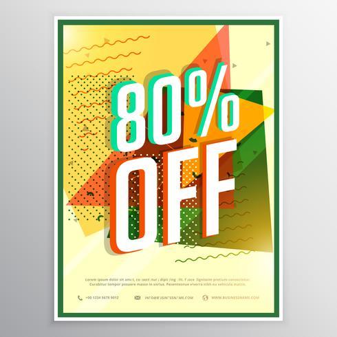 sale poster banner flyer design concept