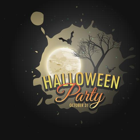 halloween party invitation poster template download free vector