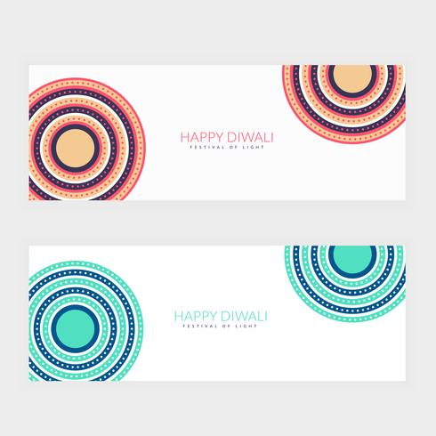 clean happy diwali festival banners