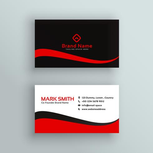modern red and black business card design