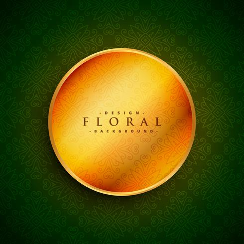 golden circle on green vintage background