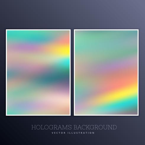 beautiful hologram background set