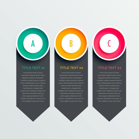 three options dark vertical banners