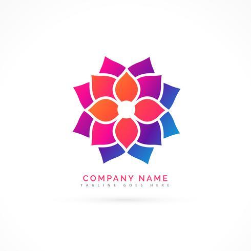 kleurrijk bloemlogo ontwerp
