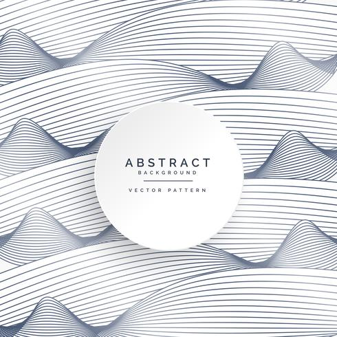 stylish white background with abstract wavy lines