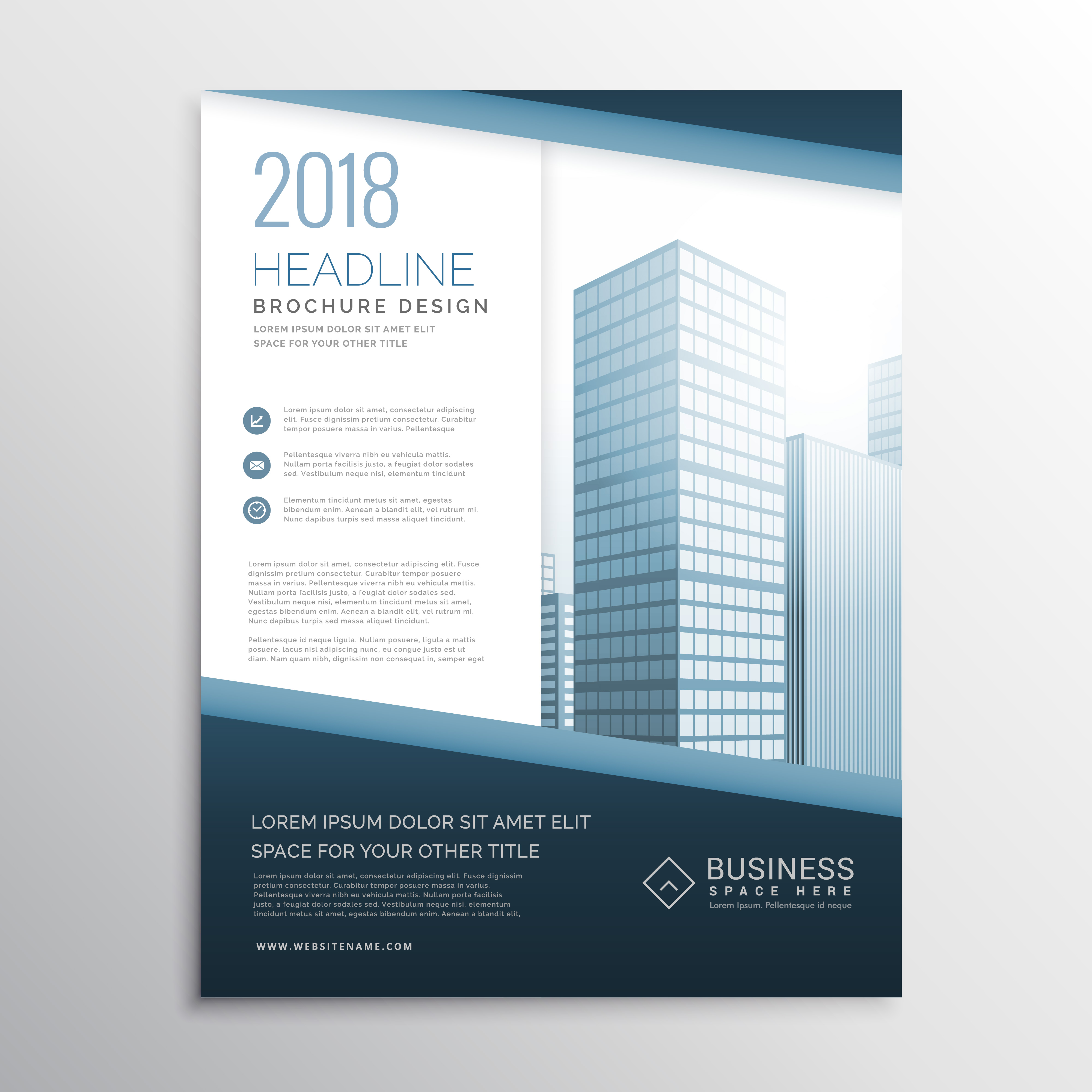 brochure design template layour cover page vector