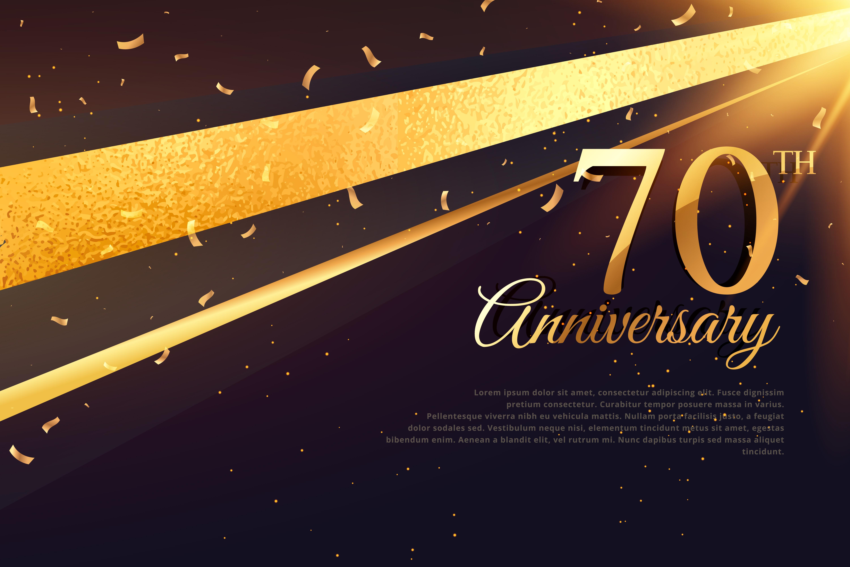 70th Birthday Card Vector