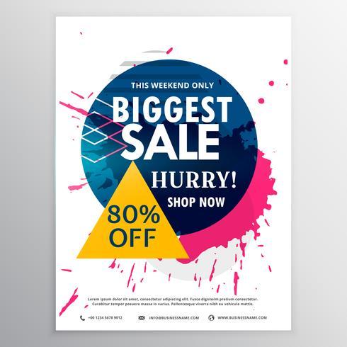 biggest sale discount voucher with ink splash