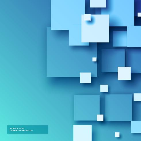 abstract blue 3d mosaic vector background