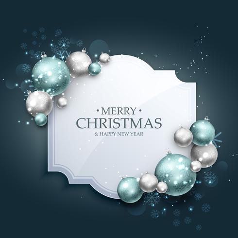 beautiful christmas greeting background with realistic christmas