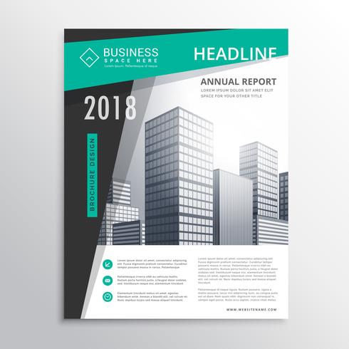 awesome business brochure flyer design template design vector in