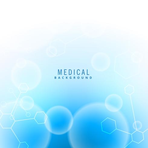 medical science background with particles