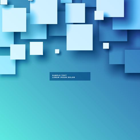 stylish 3d squares vector background design