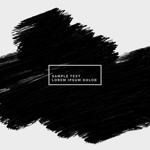 abstracte handgeschilderde zwarte streek