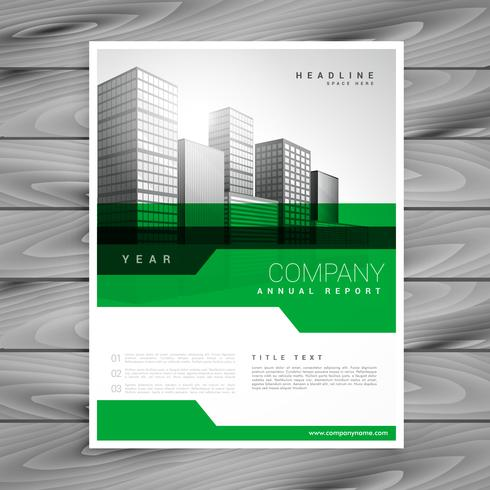 abstract green geometric company brochure template design