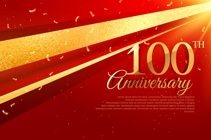 100th anniversary celebration card template