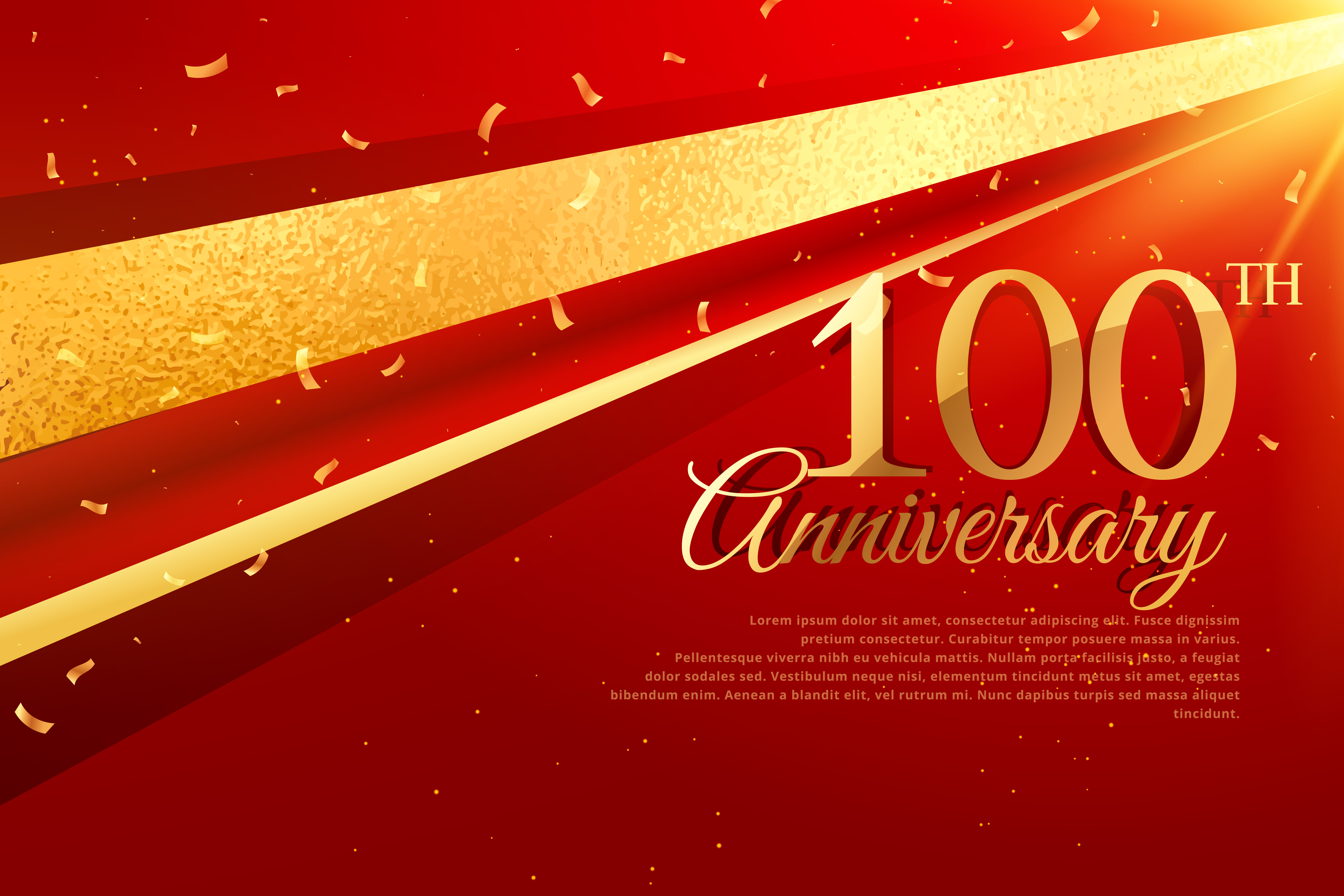 100th anniversary celebration card template - Download Free Vector ...