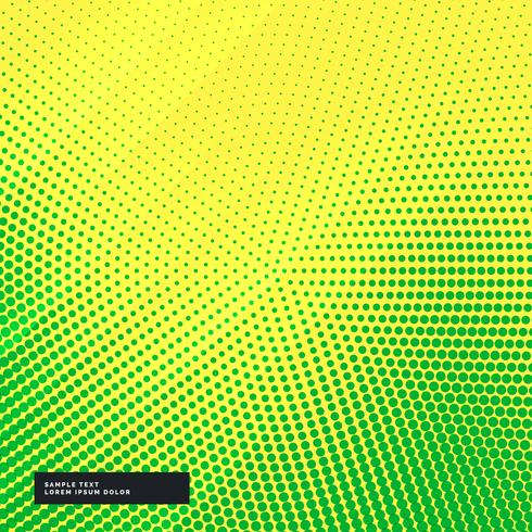 yellow background with green halftone effect