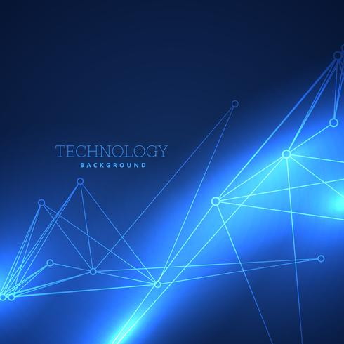 technology background with network lines