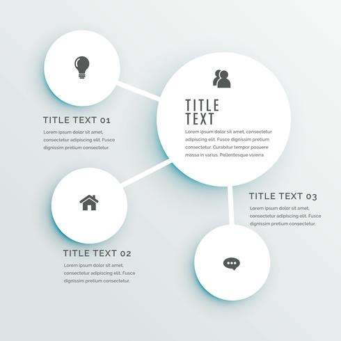 infographic design template with circles