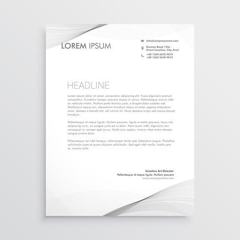 elegant gray letterhead design