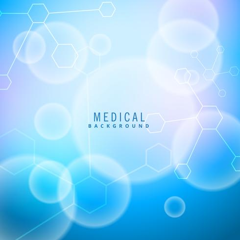 bright medical background with molecules