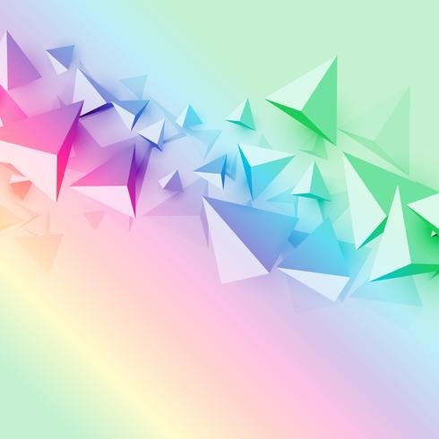 colorful background with 3d polygon triangle shapes