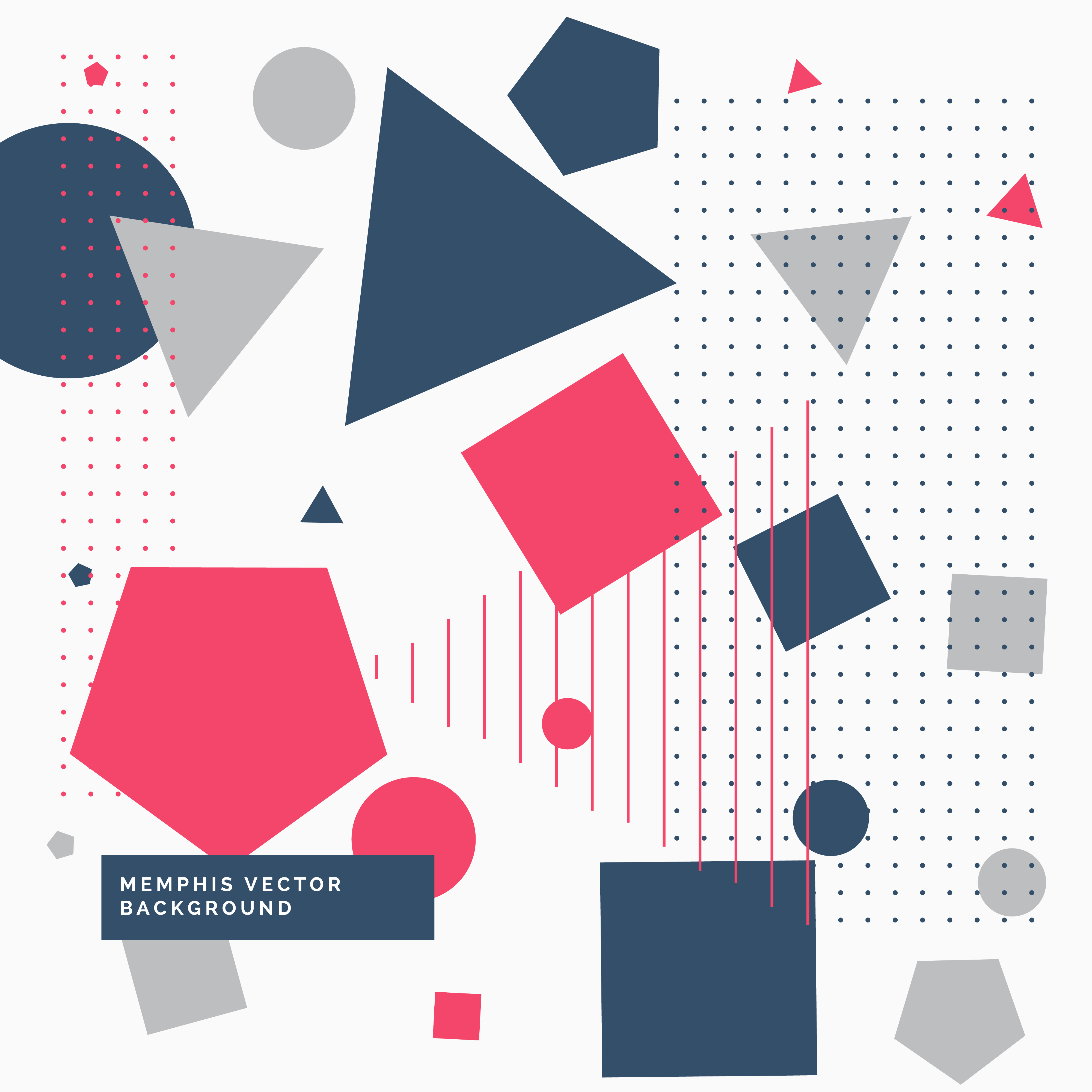 Abstrat Background With Geometric Shapes