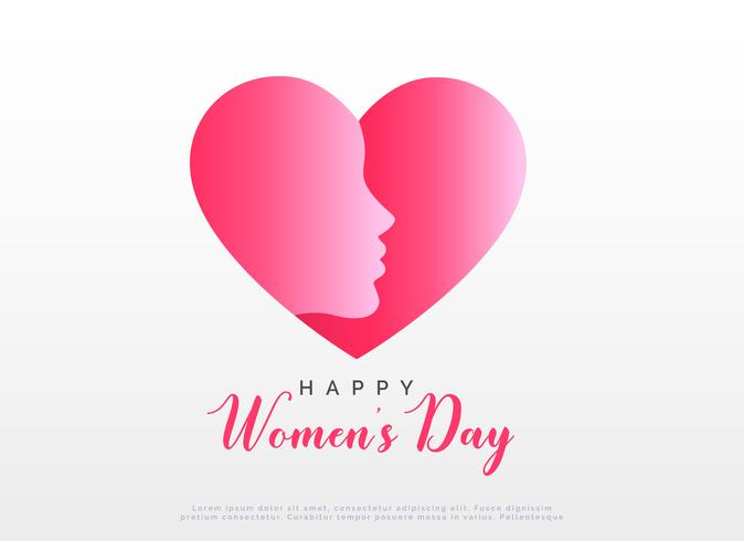 concept design with heart and face for happy women's day