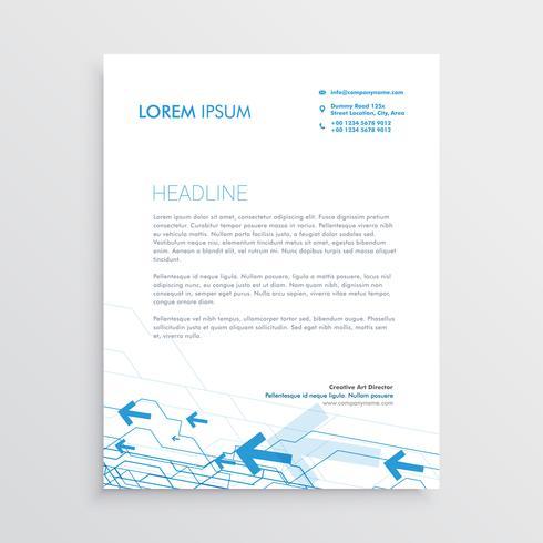 simple arrow letterhead template design