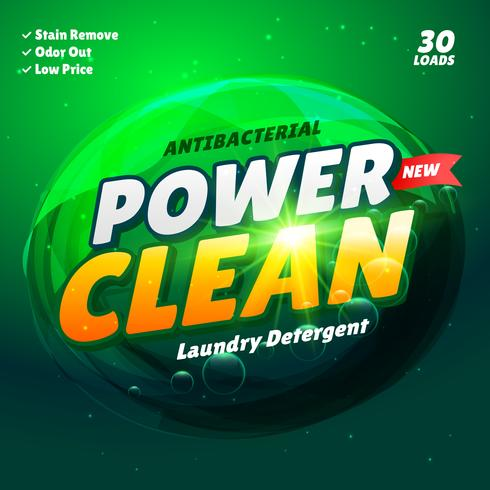 detergent product packaging template