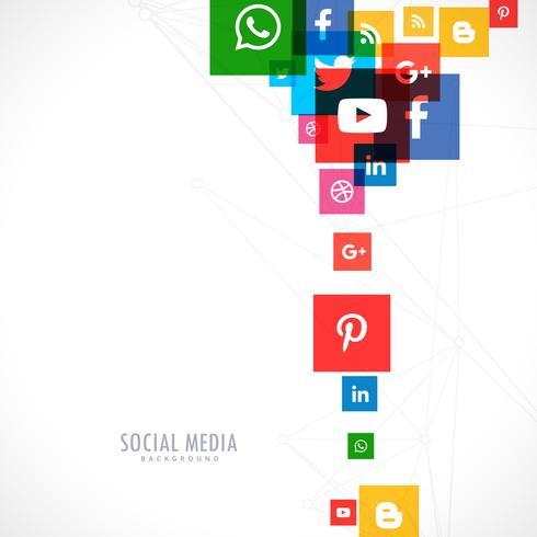 social media icons backgorund