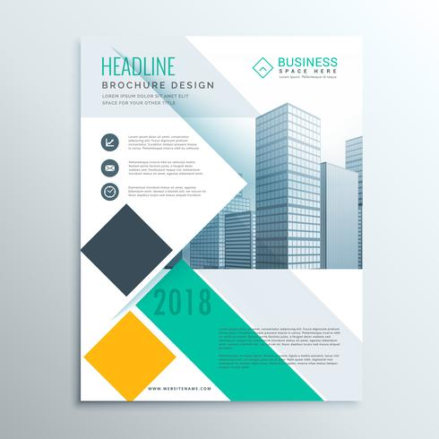 stylish business brochure flyer template with abstract geometric
